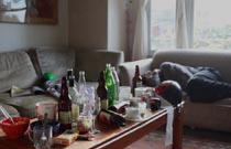 Gallery image from movie. The morning after a big party.