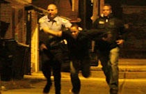 Gallery image from movie. Running from the cops.